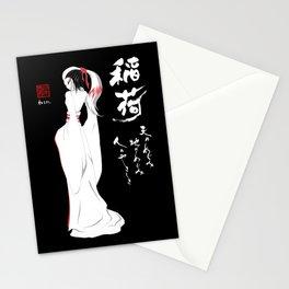 Kitsune by Nipponaisuki .....(Calligraphy)Hiroko Fukuda of Wakoshi Stationery Cards