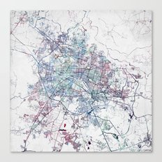 Guadalajara Map Canvas Print