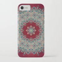burgundy iPhone & iPod Cases featuring Mandala Nada Brahma  by Elias Zacarias