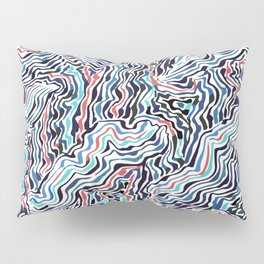 black topography Pillow Sham