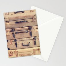 Stack of old suitcase Stationery Cards