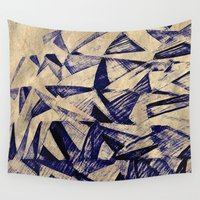 airplanes Wall Tapestries featuring Paper Planes by Fernando Vieira