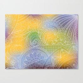 zen pattern on yellow-blue gradient Canvas Print