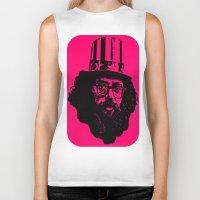 literature Biker Tanks featuring Outlaws of Literature (Allen Ginsberg) by Silvio Ledbetter