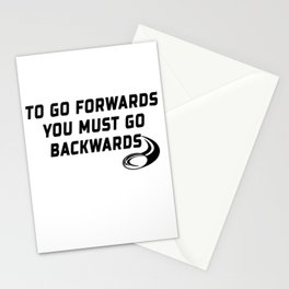 Rugby Go Backwards Quote Stationery Cards
