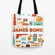 James Bond 50 Years  Tote Bag
