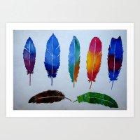 Feathers. Art Print