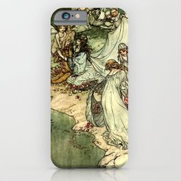 """Titania"" by Arthur Rackham From Shakespeare iPhone Case"