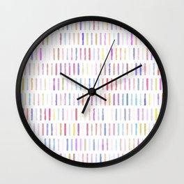 vintage fantasy polka lines Wall Clock