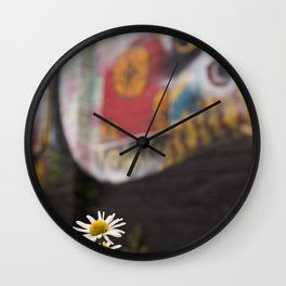 Grafitti and nature Wall Clock
