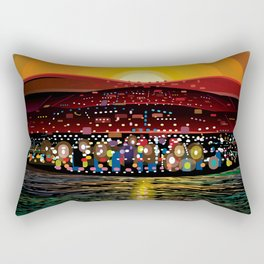 Angel Island Sunset (Square) Rectangular Pillow