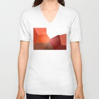 study V-neck T-shirts featuring Red Study by Lyssia Merrifield