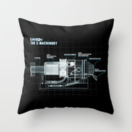 The Z-Machinery - Technical Blueprint Throw Pillow