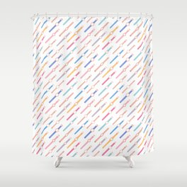 My colourful Watches -White Shower Curtain