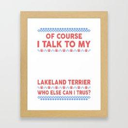 Lakeland Terrier Ugly Christmas Sweater Framed Art Print