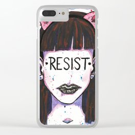 "Words Within: ""Resist"" Clear iPhone Case"