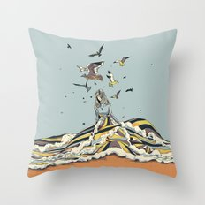 WALK ON THE OCEAN Throw Pillow