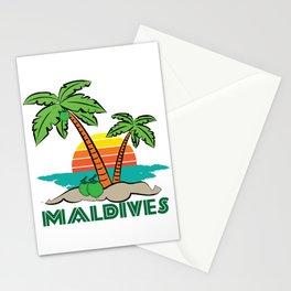 Maldives - Summer Beach Vacation Travel Destination Gift Stationery Cards