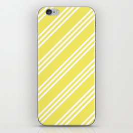Yellow Large Small/Small Stripes iPhone Skin