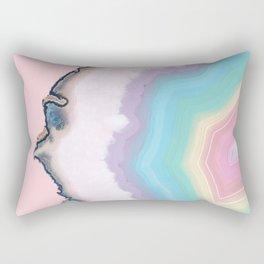 Rainbow Agate Slice Rectangular Pillow