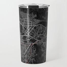 Kabul, Afghanistan City Map - Oriental  Travel Mug