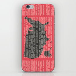 50 States of America iPhone Skin
