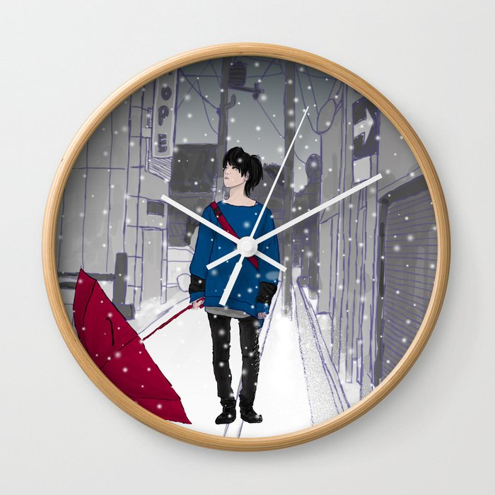 In The Snow Wall Clock