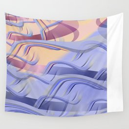 Pattern colors 2016 rose quarz and serenity blue Version 3 Wall Tapestry