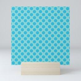 Aqua Sea Thalertupfen Polka Dots Mini Art Print