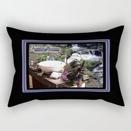 American Raccoon: Myths & Cleanliness Rectangular Pillow