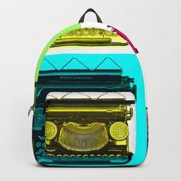Typewriter Grid Backpack