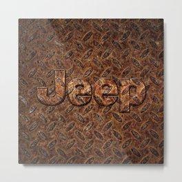 VINTAGE JEEP PATTERN LOGO INSPIRED Metal Print