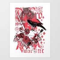 religious Art Prints featuring Religious war by Tshirt-Factory