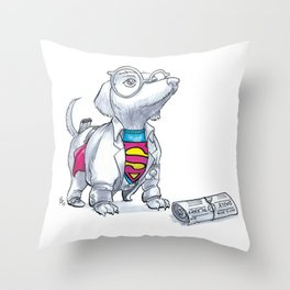 #DogDays18 Mild Mannered Throw Pillow