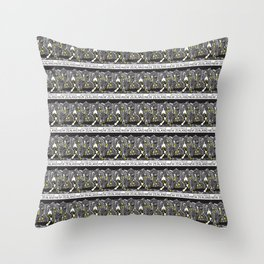 Mt Cook/Kowhai Stamp Collage Throw Pillow