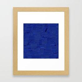 Blue irregular lines Framed Art Print