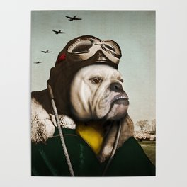 "Wing Commander, Benton ""Bulldog"" Bailey of the RAF Poster"