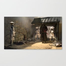 Lord Vader and his troops Canvas Print