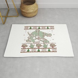 Hockey Goalie Christmas Rug
