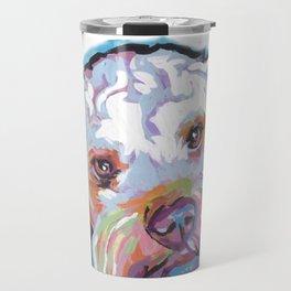 COCKAPOO Fun Dog Portrait bright colorful Pop Art Painting by LEA Travel Mug