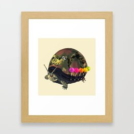"""Born to Chill"" Full Metal Snail Turtle Framed Art Print"