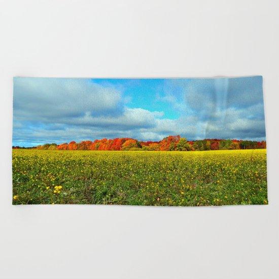 Autumn's Contrasts Beach Towel
