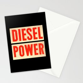 Diesel Power Stationery Cards