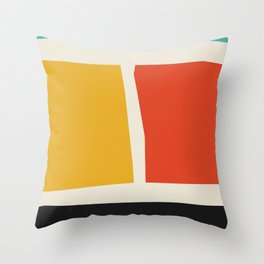 cutout shapes abstract mid century illustration - Mid century modern, mid century wall art, mid cent Throw Pillow