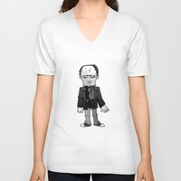 frankenstein V-neck T-shirts featuring Frankenstein  by Marco D Carrillo