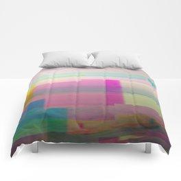SCRATCHED DISK - Glitch Art Print Comforters