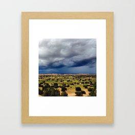 A Storm's Brewing Framed Art Print