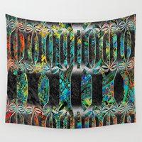 barcelona Wall Tapestries featuring barcelona stripes by donphil