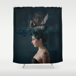 Sailing - Blue Shower Curtain