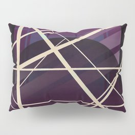 Crossroads - purple graphic Pillow Sham